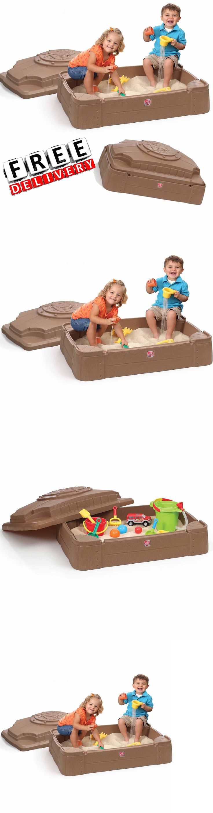 Sandbox Toys and Sandboxes 145990: Sandbox With Cover Little Tikes Play Outdoor Sand Fun Kid Baby Toy Backyard New -> BUY IT NOW ONLY: $57.99 on eBay!