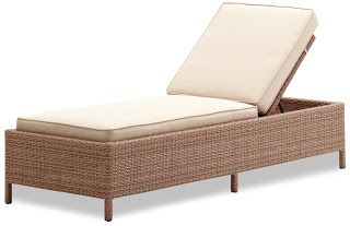 Strathwood Griffen All-Weather Wicker Chaise Lounge, Natural | Strathwood Griffen | Strathwood Outdoor Furniture