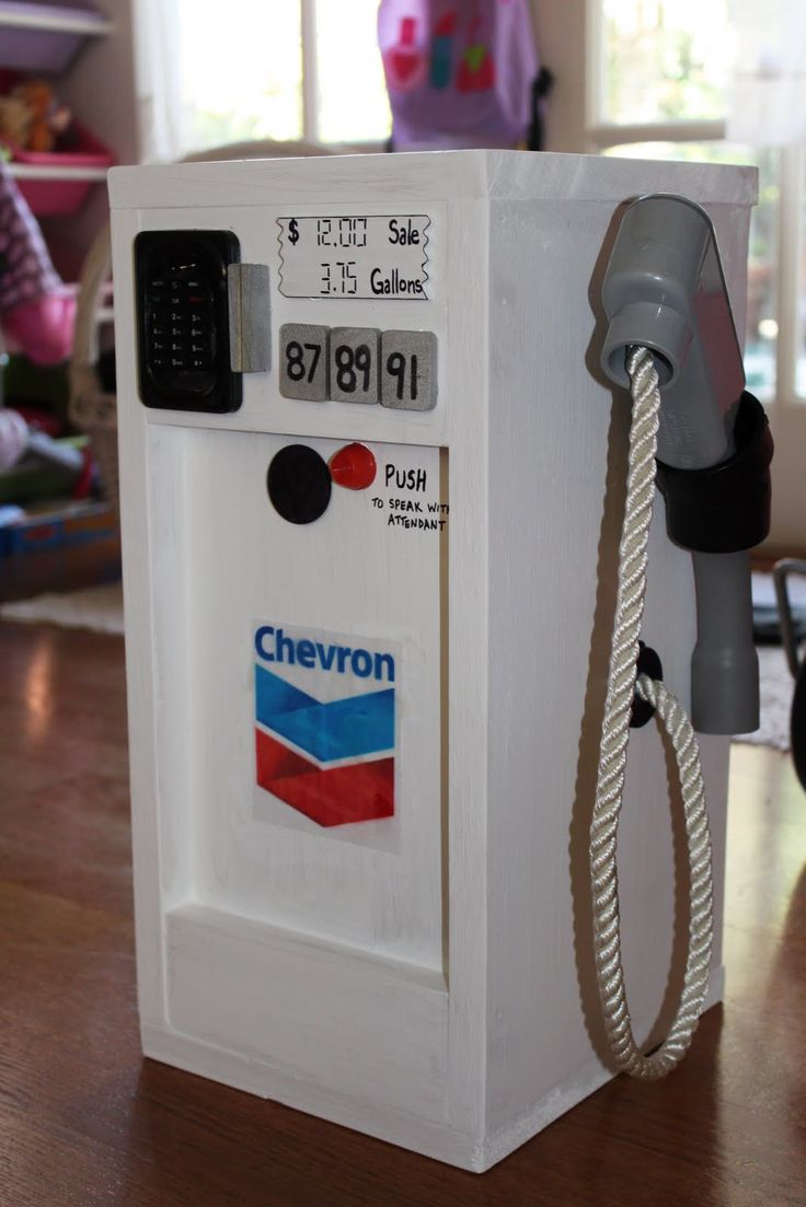 """MADE: Pieces For Reese: Pretend Play: Wooden """"Gas Pump"""""""
