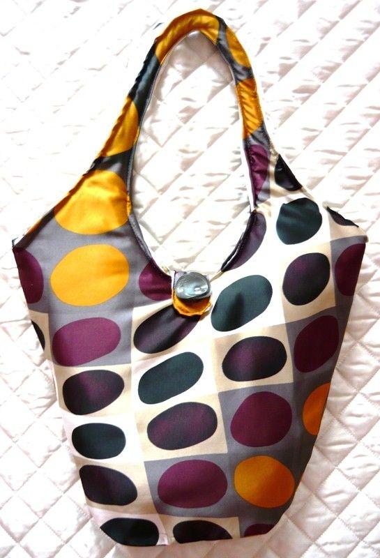 Tote bag, vintage tote borsa, borsa, secchio tote bag, sacchetto di fantasia optical, sacchetto di raso, borsa artigianale, borsa a tracolla - borsa a secchiello bolla by Artemisya  #italiasmartteam #etsy