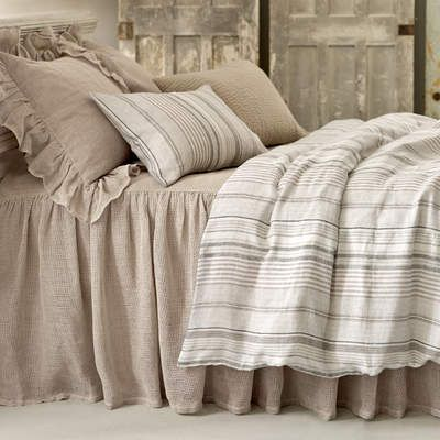 Linen Mesh Gradation Bedding. Neutrals are a natural in this laid-back pairing of our linen mesh coverlet and shams with our softly striped duvet, and a quilted sham for textural pop. Find your Pine Cone Hill bedding ...at Mary's