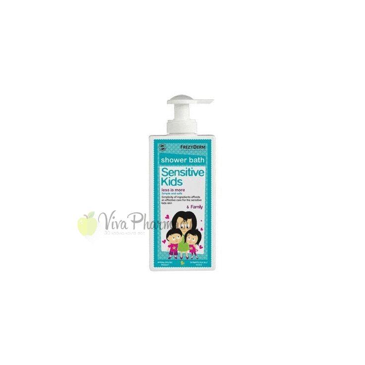 FREZYDERM SENSITIVE KIDS SHOWER BATH 200ml - Vivapharmacy.gr - Online Φαρμακείο - Βρείτε καλλυντικά, βρεφικά προϊόντα, συμπληρώματα διατροφής