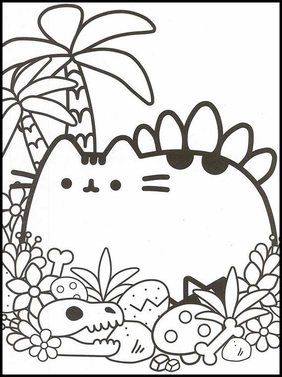 Pusheen 18 Printable Coloring Pages For Kids Pusheen Coloring Pages, Coloring  Books, Cartoon Coloring Pages