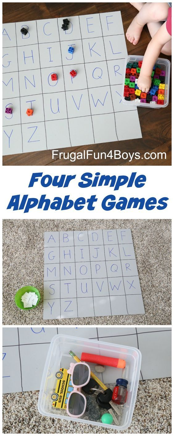 Four Simple Alphabet Games that Preschoolers Will Love - Low prep activities for learning the alphabet