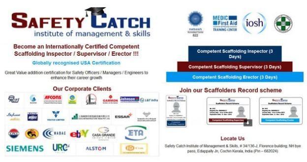 Go for the #Scaffolding Inspector/ #supervisor/ #Erector!! http://safetycatchinstitute.com