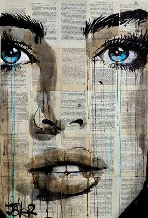 "Saatchi Art Artist Loui Jover; Drawing, ""ever blue"" #art"