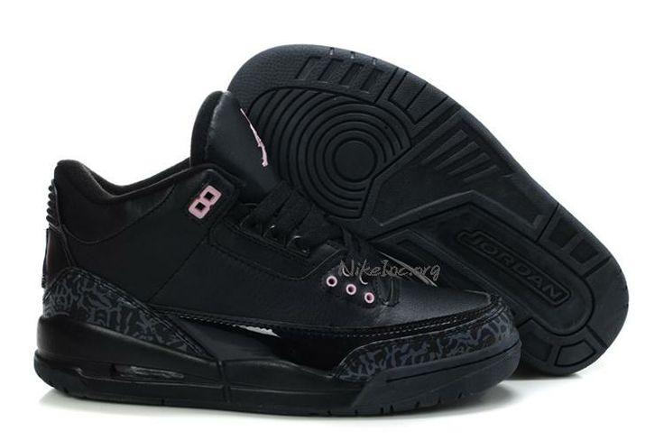 Latest Jordan Shoes | 2013 New Womens Air Jordan Retro 4 Suede Shoes Black Pink - $59.94 ...