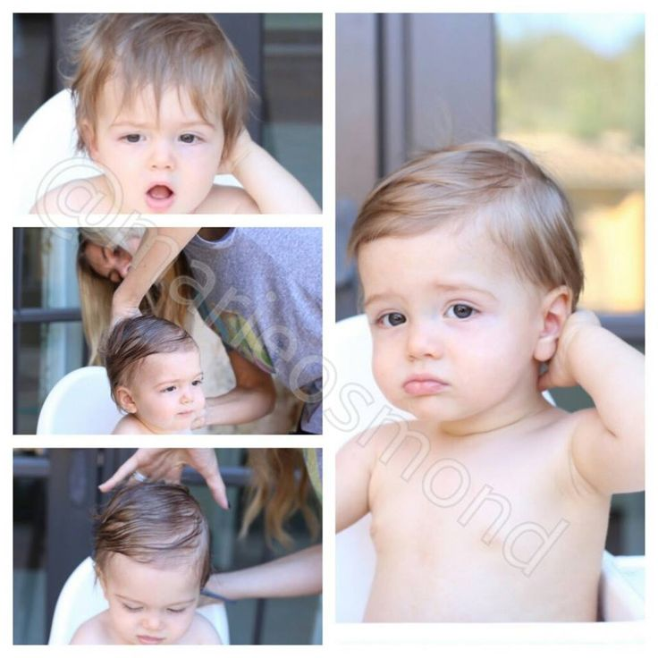 Little Steven - Marie's grandbaby - first haircut.