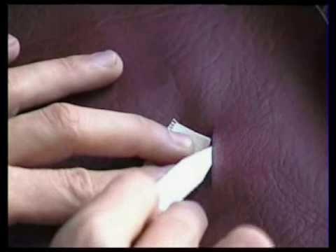 Ремонт повреждений кожаных изделий