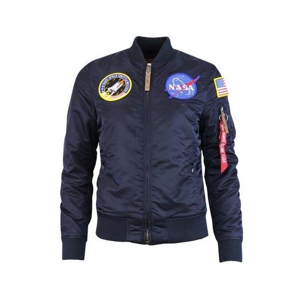 ALPHA INDSUTRIES MA1 VF NASA Women's Retro Bomber Jacket Rep Blue ❤ liked on Polyvore featuring outerwear, jackets, patch bomber jacket, blouson jacket, blue bomber jackets, blue jackets and retro bomber jacket