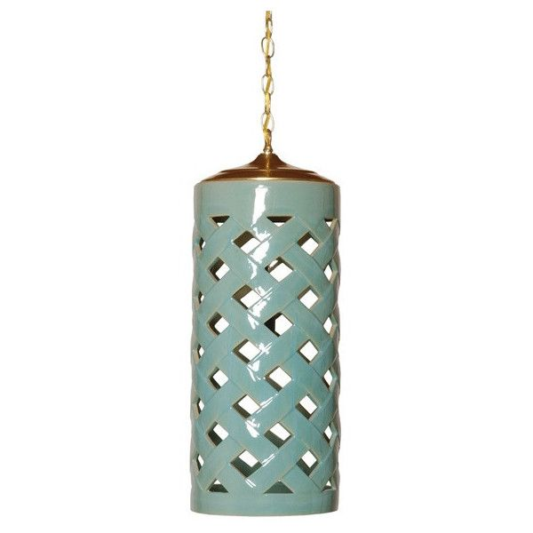 Crisscross Pendant Light In Turquoise Design By Emissary 365 Liked On Polyvore Featuring