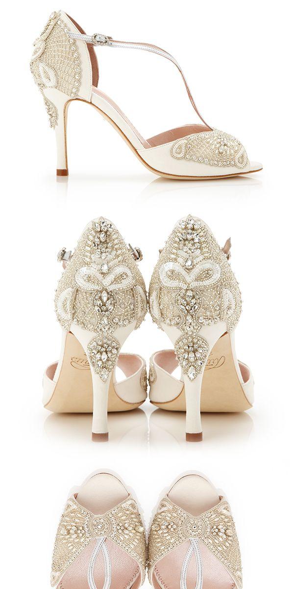 Aurelia Collection Beaded Bridal Shoes by Emmy London www.emmylondon.com