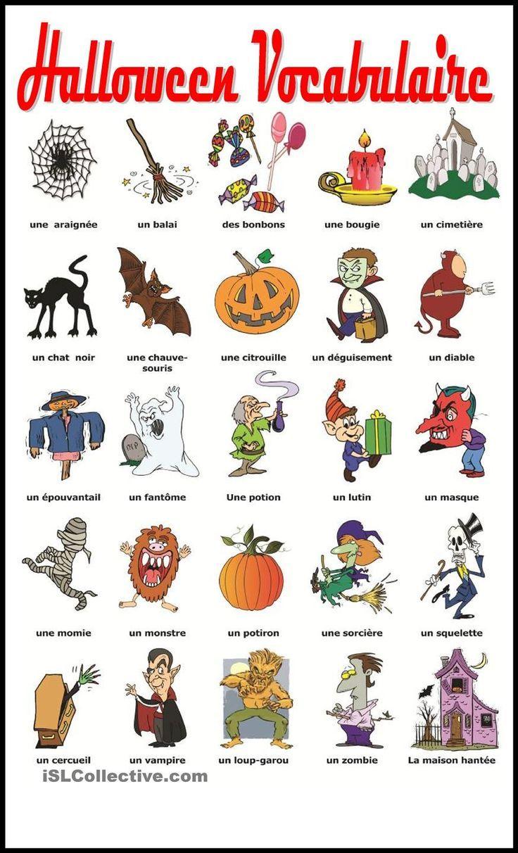 Halloween Vocabulaire: