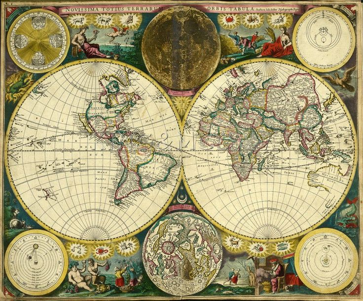 2132 best global fusion bedroom images on pinterest dining room atlas maritimus world map 1698 art print by john seller at king mcgaw sciox Image collections