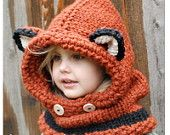 Knitting PATTERN-The Failynn Fox Cowl (12/18 months - Toddler - Child - Adult sizes) too cute wish I was a better knitter.
