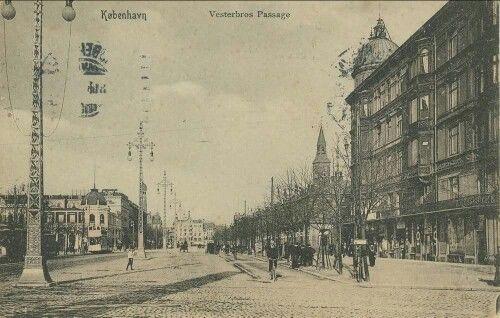 Vesterbros Passage set mod Rådhuspladsen i 1908