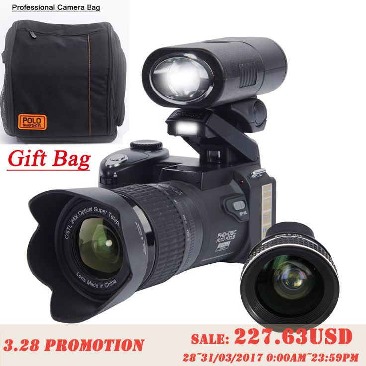 Protax d7300 מצלמות דיגיטליות מצלמות dslr מקצועית 33mp telephotos & 8x 24x זום האופטי עדשת זווית רחבה led זרקור חצובה