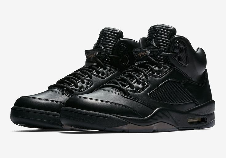 The Air Jordan 5 Premium Flight Jacket (Style Code: 881432-010) will release July 8th, 2017 for $400 USD featuring an all black leather upper. More photos: