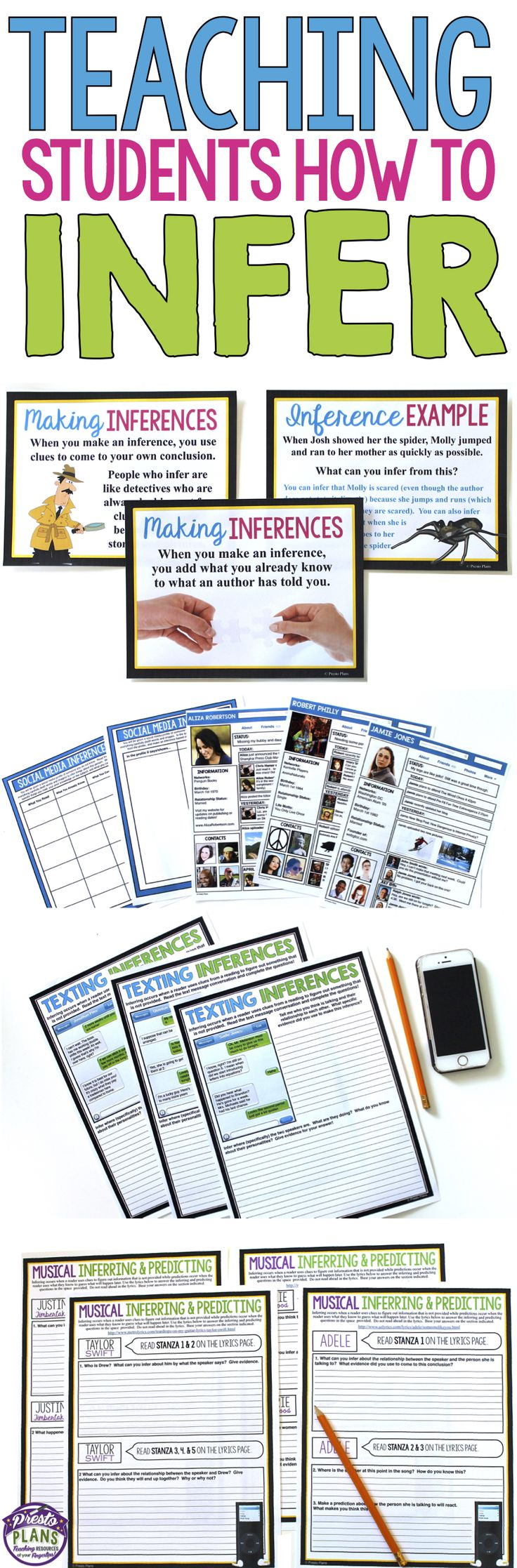 Inference can be a challenging concept/skill to teach. This best-selling bundle has a multitude of activities, printable resources, and worksheets will make it easy while also engaging your students in the process of learning to infer!