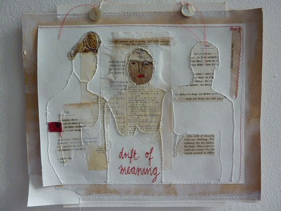Drift of meaning - mixed-media collage poetry artwork