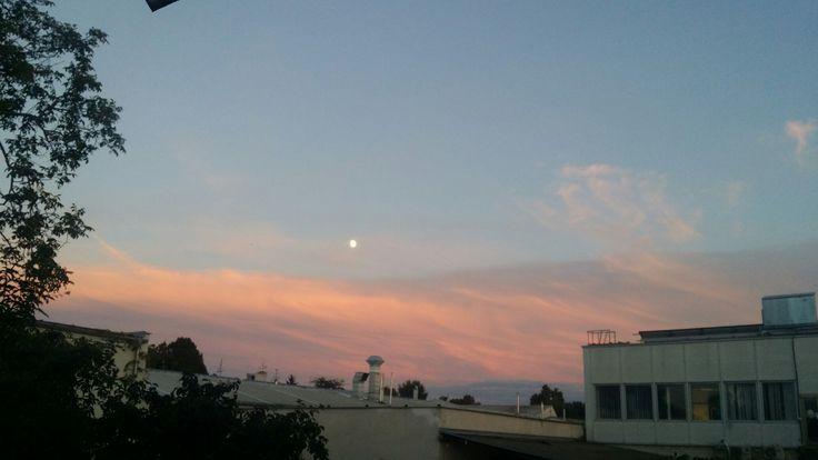 The floating moon #moon