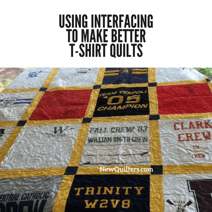 How Make Tshirt Quilt Without Interfacing