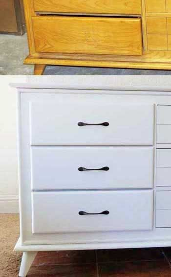 Small dresser redo w before and after pictures. Other furniture redos here too