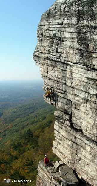 High Exposure; Shawangunks, NY - Image goes to the website of Gunks Guide service Alpine Endeavors, who I can personally vouch for - great service!