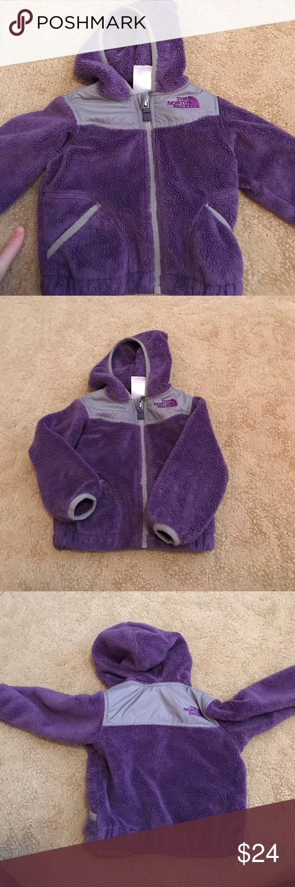 Nothface infant fleece Purple Northface infant fleece, lightly used great condition.  Only flaw is the name written on the tag :). Hood attached The North Face Jackets & Coats