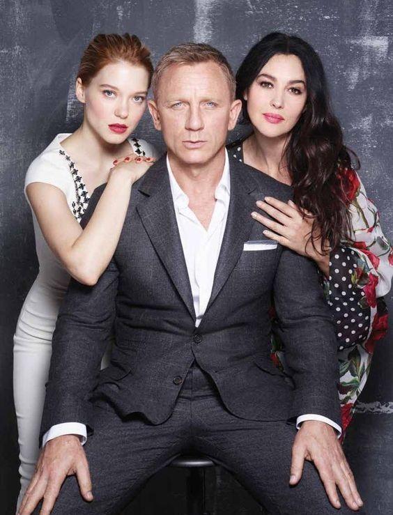 Daniel Craig, Lea Seydoux and Monica Bellucci, Spectre.