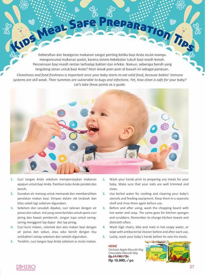 Kebersihan dan kesegaran makanan sangat penting untuk bayi Anda terlebih jika mengonsumsi makanan padat.  Ada beberapa hal yang harus orang tua perhatikan ketika memberi makan buah hati, apa saja? simak informasinya berikut ini #MomAndKids