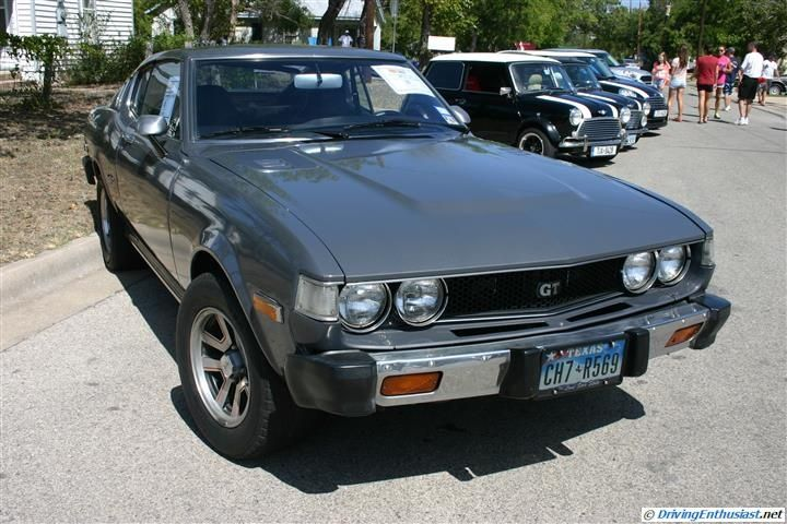 1976 Toyota Celica GT. As seen at Sept. 2012 Cars and Coffee Austin TX USA.