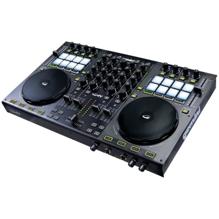 Gemini G4V 4-Channel Virtual DJ Mixer   3-band EQ -  XLR   RCA #GEMINI