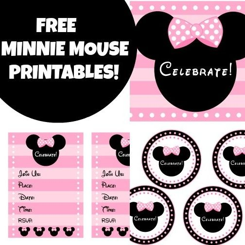 Pink Minnie Mouse Printables In 2019 Minnie Mouse