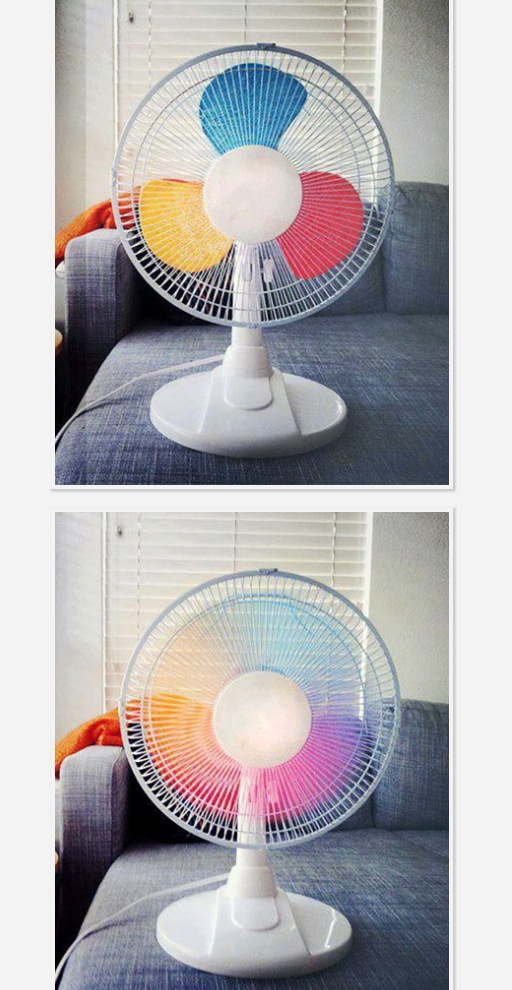 I have a little fan that i would love to try this with! i would need to put more colors in it though cuz mine has more blades