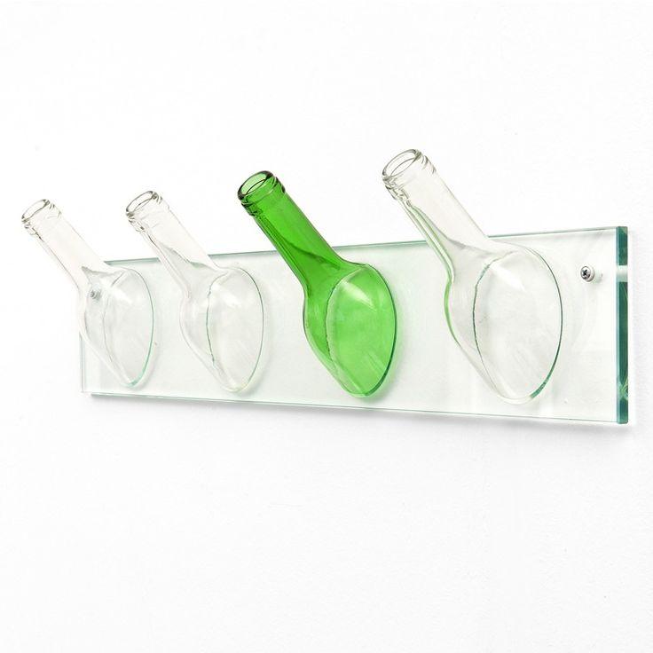 Hanging Mirror - Percheros hechos a mano reciclando botellas de vidrio - Objeto ecológico con diseño
