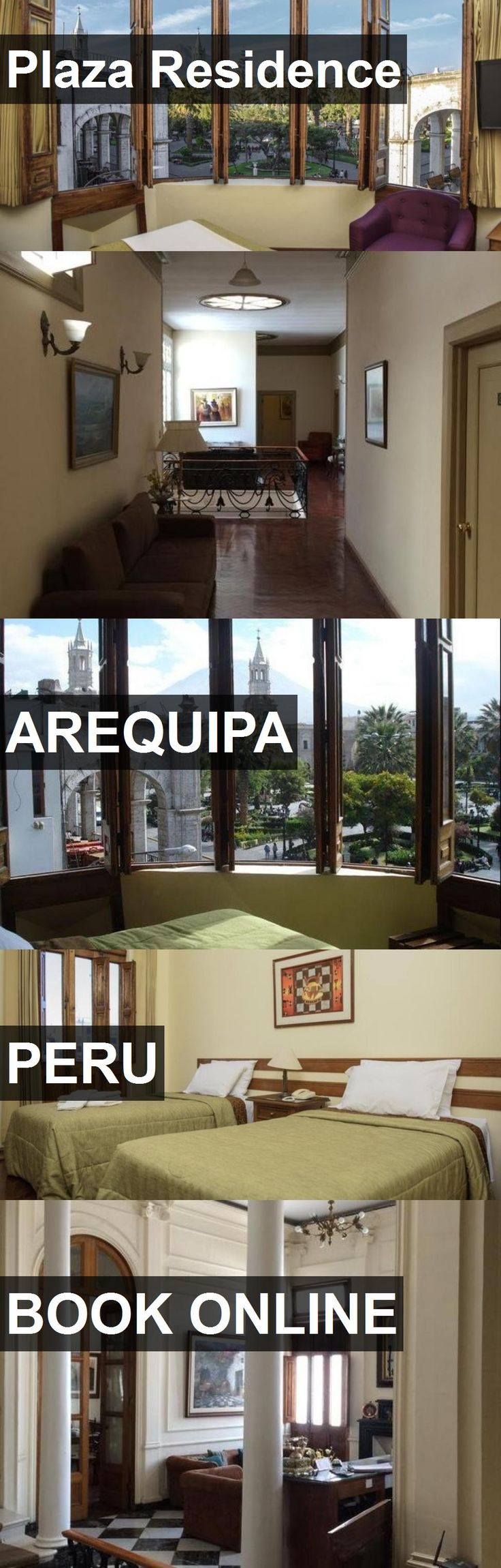 Hotel Plaza Residence in Arequipa, Peru. For more information, photos, reviews and best prices please follow the link. #Peru #Arequipa #travel #vacation #hotel