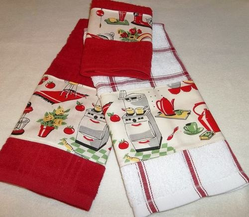 Retro Kitchen Linens: 209 Best Images About Tea Towels On Pinterest