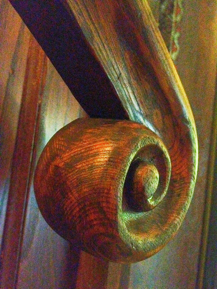 A Hand Carved Quot Rams Head Quot From A Vintage Stair Railing In