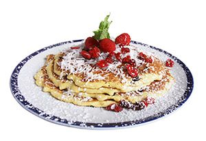 cranberry/coconut pancakes.