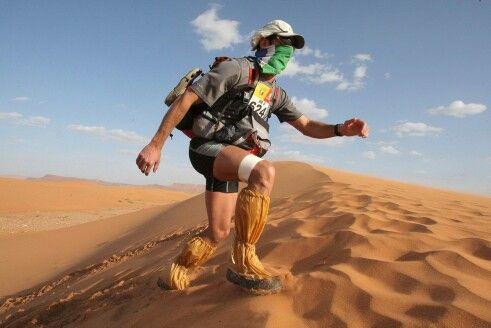 Maraton de sables en el desierto