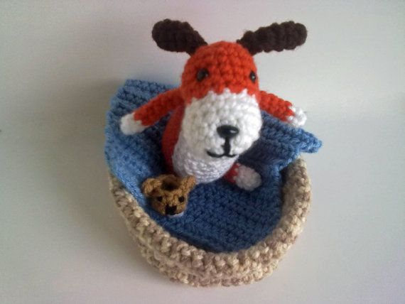 Crochet pattern The Dog with the Slipper Play set Crochet