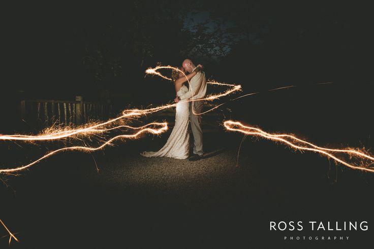 Wedding Fireworks & Sparkler photography - Wedding Photography Cornwall by Ross Talling Wedding Photographer