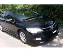 Honda Civic Model 2007 Black Color With Sunroof Automatic Sale in Islamabad