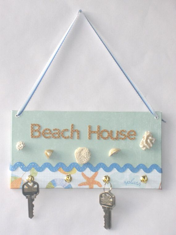 Decorative Beach House Key Hook by AmericanPaperCuts on Etsy, $14.00