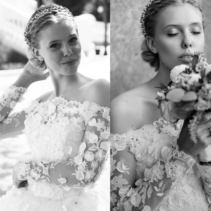 Bride @lisa_volkonskaya and her wedding dress by #ninasarkisyants Bridal Couture 👸hand embroidery with 3D flowers and long train. #NinaSarkisyants Bridal Couture👸🌸прекрасная Лиза в платье от нашего бренда.Ручная работа❤️ #newcollection #france #hautecouture #dress #collections #ninasarkisyants #wedding #weddingdress #свадебныеплатья #свадебныеплатьяворонеж #свадебныеплатьямосква #weddingdress #voronezh #dress #wedding #свадебныеплатьяоптом #italy #milano #milan #paris #weddinggown