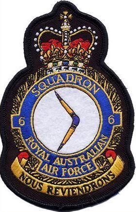Defence Gifts - 6Sqn RAAF UNIFORM CREST  PATCH, $8.50 (http://www.defencegifts.com.au/6sqn-raaf-uniform-crest-patch/)
