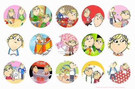 Charlie and Lola British Cartoon Bottle cap images 4 x 6 printable do | LastingMomentsHandmade - Handmade Supplies on Ar
