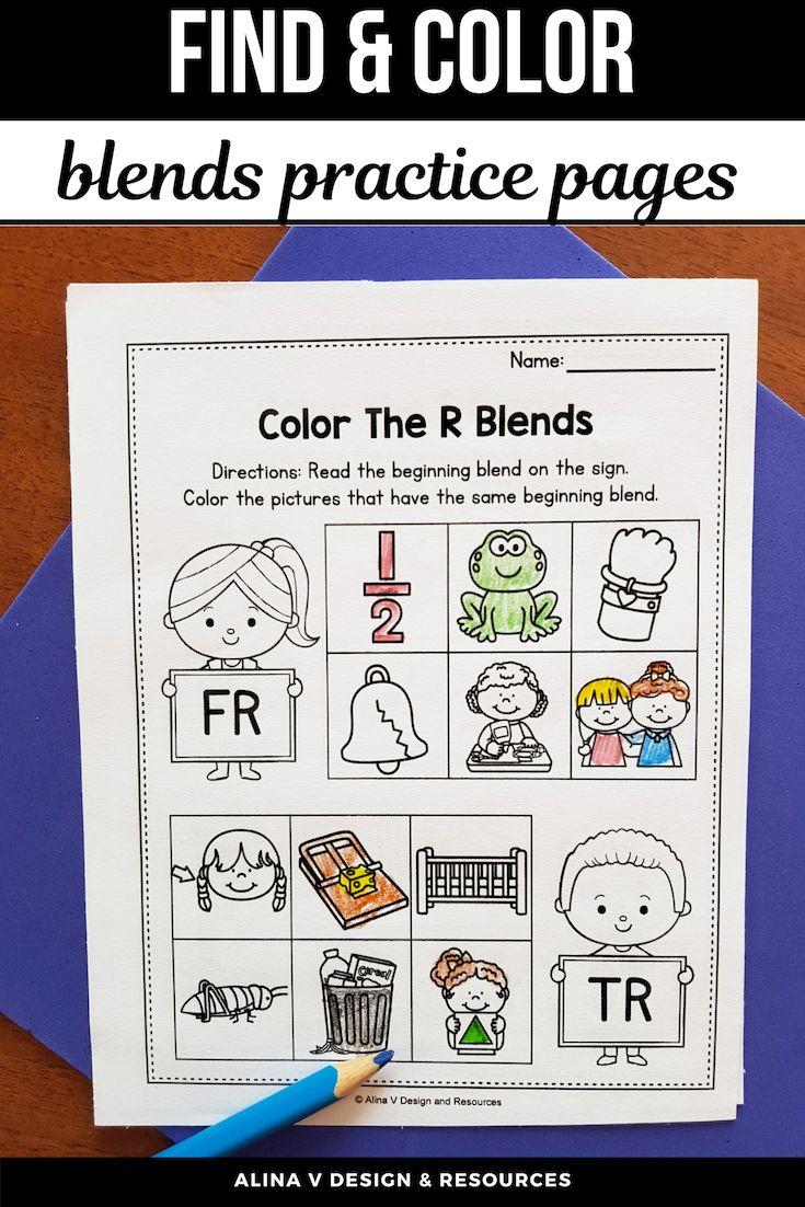 R Blends Worksheets L Blends Activities Find The Beginning Blend Phonics Activities Blends Activities Blends Worksheets [ 1102 x 735 Pixel ]
