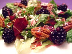 Boysenberry Feta Cheese Pecan Salad